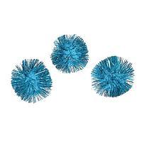 Помпоны голубые 3,5 см, набор 150 шт.
