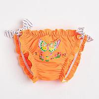 Плавки для девочки, цвет оранжевый, рост 98 см