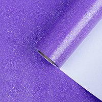 Бумага упаковочная, 'Звездная пыль', с блёстками, неоновый пурпурный, 0,7 x 5 м