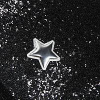 Ткань для пэчворка декоративная кожа с крупными блестками 'Звездная ночь', 50 х 70 см