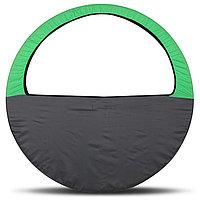 Чехол-сумка для обруча, диаметр 60-90 см, цвет салатно-серый