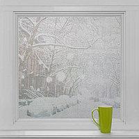 Витражная плёнка 'Пелена', 45x200 см, цвет прозрачный