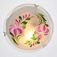 Светильник настенно-потолочный Дюна 'Лилия' 2 лампы E27 40Вт белый МИКС