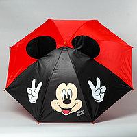 Зонт детский с ушами 'Привет', Микки Маус 70 см