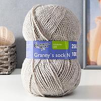 Пряжа Grannys sock N (Бабушкин носок Н) 100 акрил 250м/100гр (св.натуральный (195) (комплект из 2 шт.)