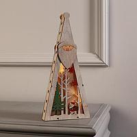 Фигура дерев. 'Ёлка Дед Мороз', 29х13х3 см, AA*2 (не в компл.), 5 LED, ТЁПЛОЕ БЕЛОЕ