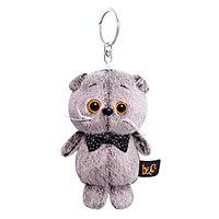 Мягкая игрушка-брелок 'Кот Басик с бантиком-бабочкой', 12 см