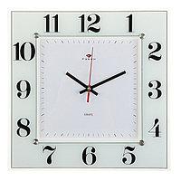 Часы настенные, серия Классика, 'Классика', 31х31 см стекло, белые Рубин