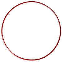 Обруч гимнастический, стальной, d90 см, 900 г, цвет красный