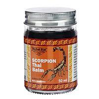 Тайский бальзам для суставов Herbal Star 'Скорпион', при радикулите, ревматизме и остеохондрозе, 50 мл