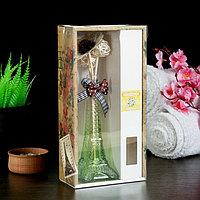 Набор подарочный 'Эйфелева башня' (ваза, 2 палочки с шариками, декор, аромамасло 30 мл), аромат жасмин
