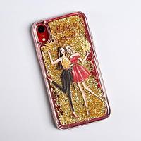 Чехол - шейкер для телефона iPhone XR 'Подружки', 7,6 х 15,1 см