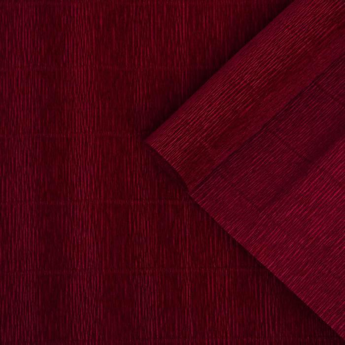 Бумага гофрированная, 588 'Бордовый красный', 0,5 х 2,5 м - фото 1