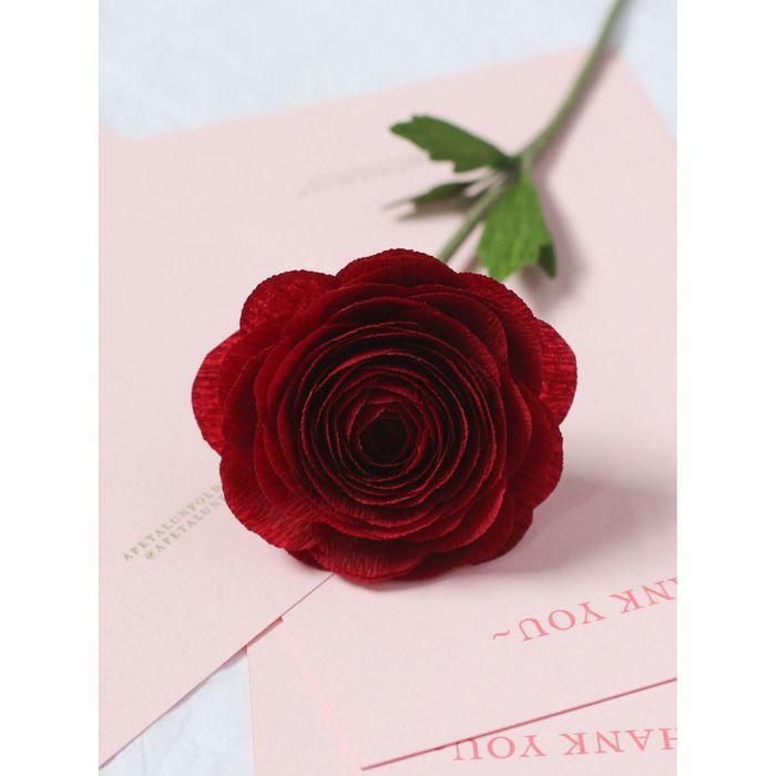 Бумага гофрированная, 588 'Бордовый красный', 0,5 х 2,5 м - фото 4