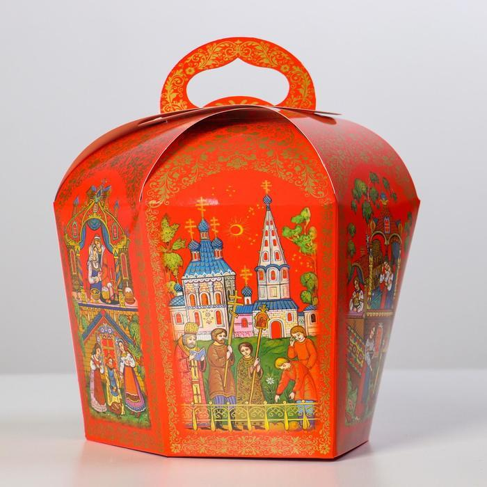 Коробка для кулича 'Палех красный' диаметр 13,4 см - фото 2
