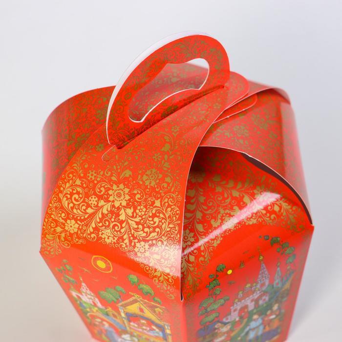 Коробка для кулича 'Палех красный' диаметр 13,4 см - фото 3