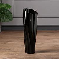 Ваза напольная 'Селена', чёрная, керамика, 45 см