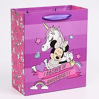 Пакет ламинат вертикальный 'Unicorn dreams', Минни Маус, 23х27х11,5 см