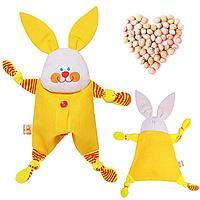 Развивающая игрушка с вишнёвыми косточками 'Заинька. Доктор мякиш'