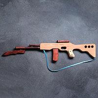 Сувенирное деревянное оружие 'Автомат боевой', 60 х 15 см, массив бука