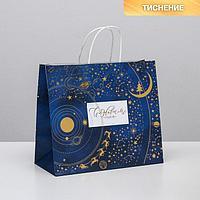 Пакет подарочный крафтовый 'Новогодняя ночь', 32 x 28 x 15 см (комплект из 6 шт.)