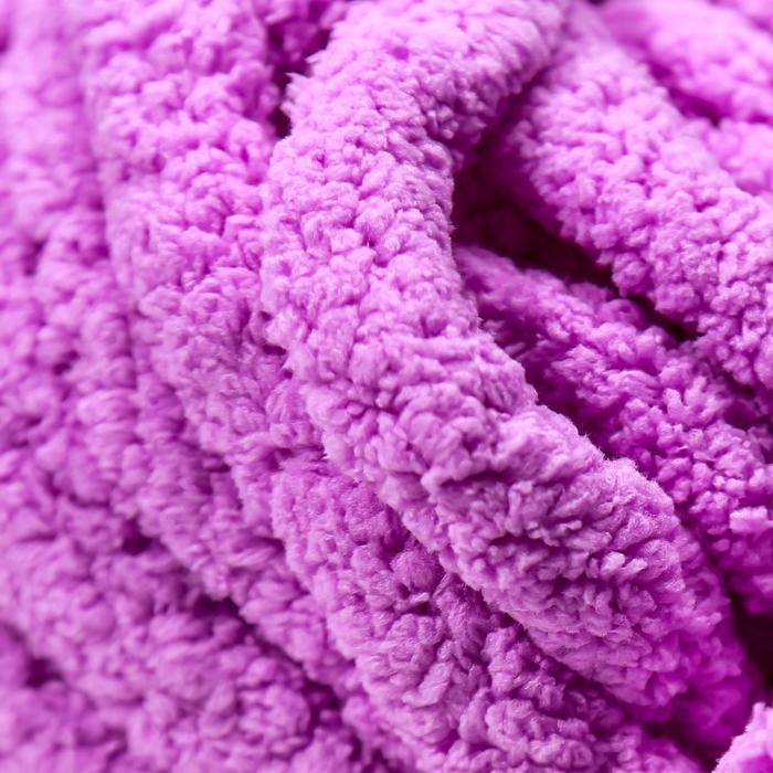 Пряжа фантазийная 100 полиэстер 'Softy plush maxi' 250 гр 22 м орхидея - фото 3