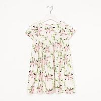 Платье для девочки 'Фуксия', цвет молочный, рост 98 см