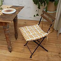Сидушка на стул Этель Yellow garden 42х42см, 100 хл, 190 г/м2