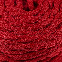 Шнур для вязания с сердечником 100 полиэфир, ширина 5 мм 100м/550гр (115 красный)