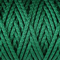 Шнур для вязания с сердечником 100 полиэфир, ширина 5 мм 100м/550гр (49 т. зеленый)