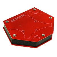 Магнитный сварочный фиксатор GRAPHITE, угол 45, 60, 75, 90, 135, 111 x 136 х 24 мм, ферритовый
