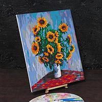 Картина по номерам на холсте с подрамником 'Подсолнухи' Клод Моне 40х50 см