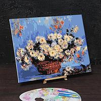 Картина по номерам на холсте с подрамником 'Хризантемы' Клод Моне 40х50 см