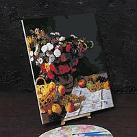 Картина по номерам на холсте с подрамником 'Цветы и фрукты' Клод Моне 40х50 см
