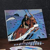 Картина по номерам на холсте с подрамником 'Похищение Европы' Валентин Серов 40х50 см