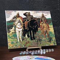 Картина по номерам на холсте с подрамником 'Богатыри' Виктор Васнецов 40х50 см