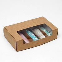 Коробка складная под 5 эклеров, крафт, 25,2 х 15 х 7 см (комплект из 5 шт.)