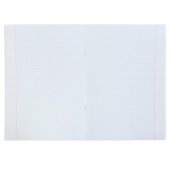 Тетрадь А4, 48 листов в клетку, на скрепке Monotone, обложка мелованный картон, блок офсет, бирюзовая - фото 2