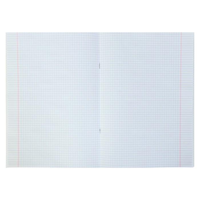 Тетрадь А4, 48 листов в клетку, на скрепке Monotone, обложка мелованный картон, синяя (комплект из 3 шт.) - фото 2