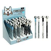 Ручка гелевая-прикол со стираемыми чернилами, стержень черный, корпус МИКС 'Собачка' (штрихкод на штуке)