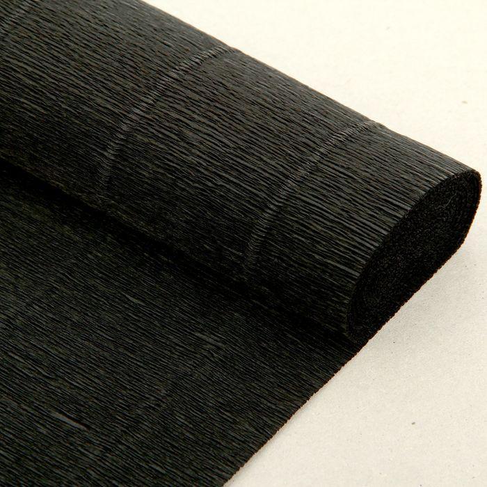 Бумага гофрированная, 602 'Чёрная', 0,5 х 2,5 м - фото 2