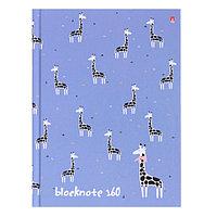 Блокнот А6, 160 листов твёрдая обложка 'Зверушки. Паттерн', глянцевая ламинация