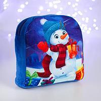 Рюкзак детский 'Снеговик', 24х24 см