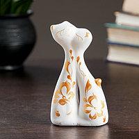 Фигура 'Коты влюбленные' мини белые, 3x6,5x12см