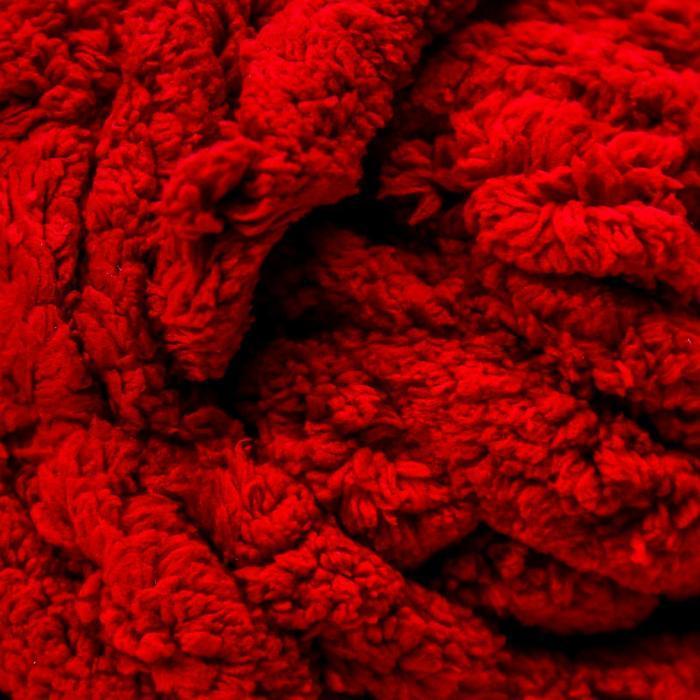 Пряжа фантазийная 100 полиэстер 'Softy plush maxi' 250 гр 22 м вишневый - фото 3