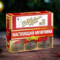 Подарочный набор 'С Новым годом, настоящий мужчина', рюмки и домино