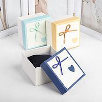 Коробочка подарочная под часы 'Сердце' с бантом, 9*9, цвет МИКС (комплект из 6 шт.)
