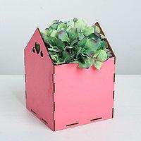 Кашпо флористическое, розовый, 15 x 15 x 20.5 см