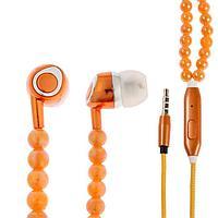 Наушники LuazON VBT 1.11 'Жемчуг', вакуумные, микрофон, оранжевые