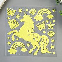 Светящаяся наклейка Room Decor 'Единорог' 18х18 см